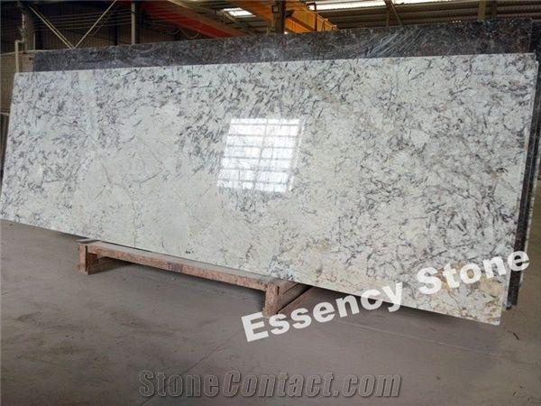 Prefab Ice Blue Granite Countertops Ice White Granite Kitchen Tops