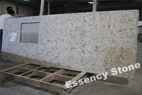 Vanilla White Granite Kitchen Countertops Venetian Ice