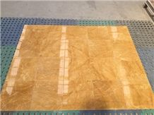 Yellow Marble Tiles (Cut to Sizes) - Golden Yellow, China Yellow Marble
