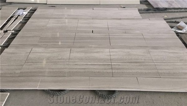 China Wooden White Marble Big Slab Tile Guizhou Grey Wood