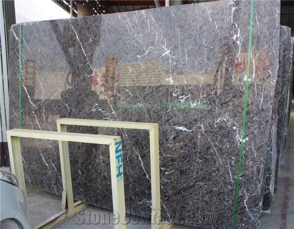 Hangzhou Ash Grey Marble Tile Slab For Wall And Floor