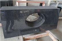 Indian Black Galaxy Granite,Black Granite Bath Top, Bench Top,Worktop, Bullnose Vanity Top
