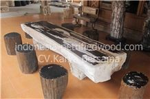 Petrified Wood Tables, Dinner Tables