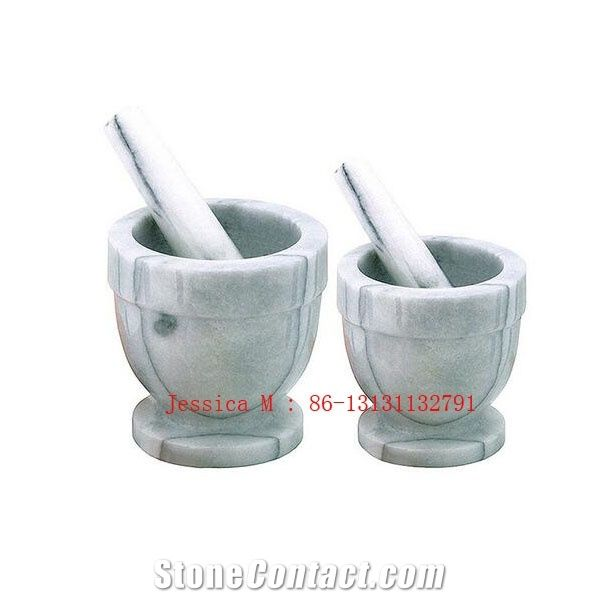 4 Quot Marble Mortar And Pestle Set White Marble Mortars From
