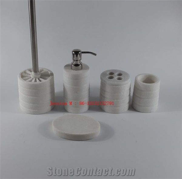 white marble bathroom accessories white hotel bathroom accessory set white marble 21551