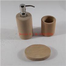 Sandstone Bathroom Accessory Set