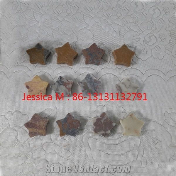 Star Shape Nature Stones Home Decor Products From China