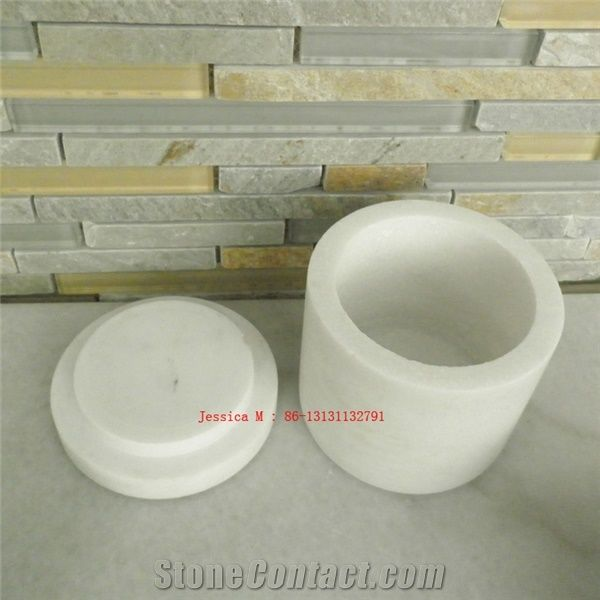 White Marble Jar /White Marble Kitchen Accessories from ...