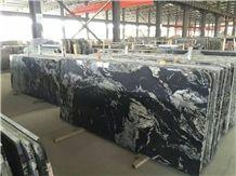 China Jet Mist Glacier Black Granite Polished Slabs and Tiles