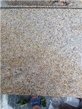 G682 Shandong Yellow Rustic Granite Sunset Gold Padang Giallo Bushhammered Tiles & Slabs