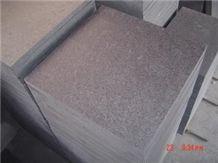 G684 China Black Crystal Fuding Black Basalt Flamed Tiles