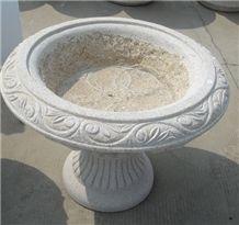 Granite Flower Pots Stand Planter Box, White Granite Flower Pots
