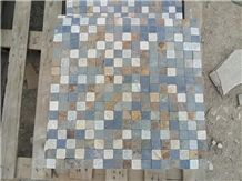 Quartzite Mosaic Split Face/Tumbled Wall Mosaic