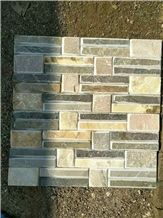 Quartzite Wall Stone Veneer Feature Wall