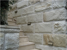 Yellow Sandstone Wall Cladding, Split Walling Tile
