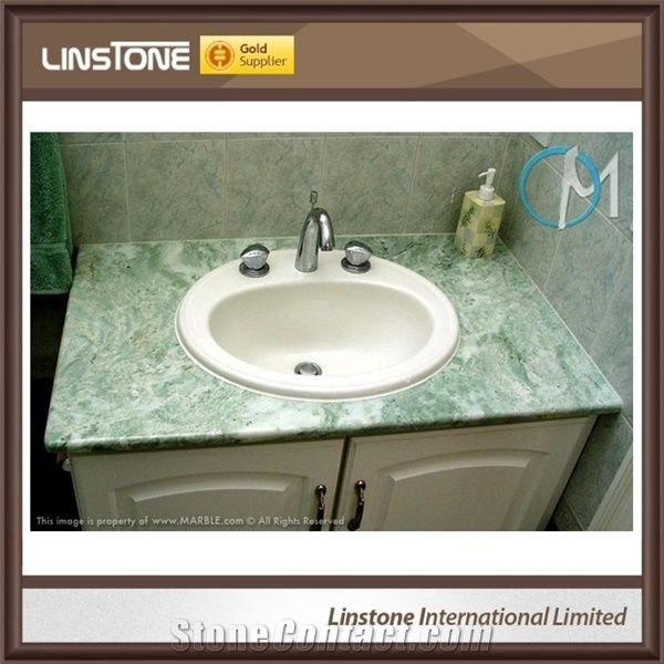 Beautiful Light Green Onyx Bathroom Vanity Top for Sale