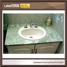 Beautiful Light Green Onyx Bathroom Vanity Top for Sale