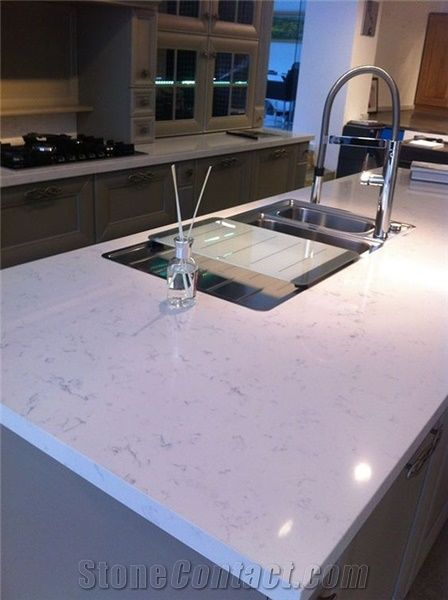 Carrara And Glacier White Quartz Countertops Island Tops For Kitchens Available With Oem Services Custom Sizes Whole Price