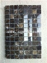 Chinese Dark Emperador stone mosaic, Irish Brown,Irish Brown China,New Emperador Brown,China Emperador Brown,China Dark Emperador Brown Polish 23*23mm Marble Mosaic for Wall,Floor,Bathroom,Interior