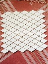 Crystal White Stone mosaic tile thassos  White,White Of Thassos,Bianco Thassos,Thassos Limenas, Waterfall,Snow White Diamond 35*52mm Marble Mosaic for Wall,Floor,Interior