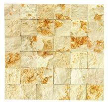 Sunny Golden Marble,Sunny Gold,Sunny Oro,Sunny Medium,Sunny Light,Sunny Dark,Giallo Sunny Marble,Giallo Ducale Split Face 50x50mm Marble Mosaic for Wall,Background,Interior,Bathroom