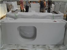 Pure White Quartz Stone Bath Top/Engineered Stone/Artificial Stone/Solid Surface Silestone Vanity Top