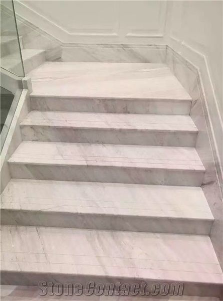White Stairs With Carpet