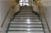 White Natanz Granite Stairs & Steps, Staircases