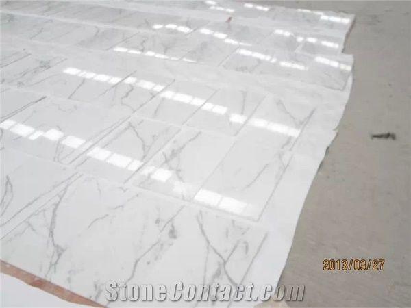 Calacatta Carrara Marble Tiles Slabs White Marble Tiles High