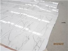 Calacatta Carrara Marble Tiles & Slabs, White Marble Tiles, High Quality Marble Floor Tiles