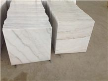 Polished Guangxi White Marble Tiles & Slabs, White Marble Floor Covering Tiles