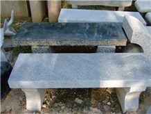 Natural Stone Hand Carved Stone Garden Bench in Landscaping , Granite Carved Bench and Chair in Park