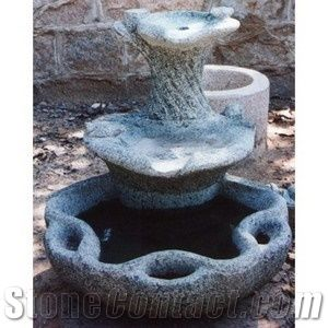 Beau Outdoor Stone Garden Fountain For Landscaping Decoration , Natural Stone  Water Feature G341 Granite Fountain