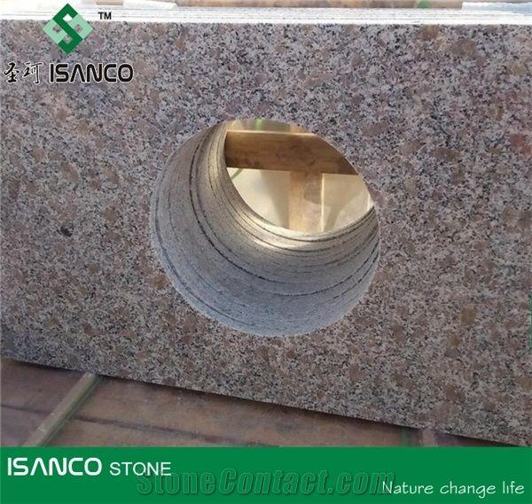 China g383 granite bathroom countertops pearl flower - Engineered stone bathroom countertops ...