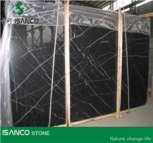 China Most Famous Black Marble Nero Marquina Marble Tiles & Slabs Black Marquina Marble Skirting Nero Margiua Marble Pattern Black Marble Floor Covering Tiles Wall Covering Tiles