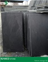China Produced Natural Black Slate Covering Slate Tiles Black Slate Slabs Cut to Size Natural Slate Wall Covering Large Quantity in Stock Best Quality & Cheapest Price Split Black Slate Floor Covering