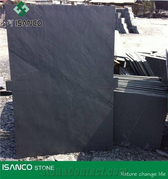 Black Slate Covering Tiles