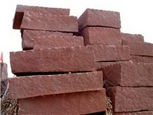 China Red Sunset Sandstone Block, Shandong Red Sandstone Block, Natural Red Sandstone, Cheap Price Sandstone from Quarry Owner