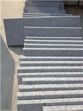 China Shandong Red G383 Granite Steps Red Stone Stairs,Shandong G383 Pearl Flower Step with Competitive Price Shandong Cheap Granite Stair Treads Polished Cheap G383 Stair Risers