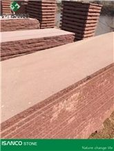China Shandong Red Sandstone Tiles Sandstone Slabs Natural Red Sandstone Wall Tiles Sandstone Floor Tiles China Red Sandstone Floor Covering Large Quantity for Sale from Our Own Quarry Cheap Price