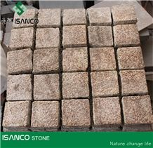 Chinese Granite Cube Stone G388 Yellow Granite Paving Set G350 Rusty Yellow Granite Exterior Pattern G341 Grey Granite Driveway Paving Stone G603 Courtyard Road Pavers Cut to Size for Wholesaling