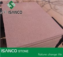 Chinese Natural Sandstone Tiles Red Sandstone Wall Tiles Shandong Red Sandstone Slabs Building Use Sandstone Wall Covering Solid Good Quality Red Color Sandstone Pattern Large Quantity in Stock