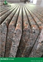 Chinese Red Granite Staircase G562 Granite Steps Bullnose Polished Maple Red Granite Stair Riser/ Stair Treads G562 Marple Red Granite Light Color Stair Threshold