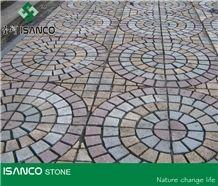 Different Colors Granite Walkway Pavers G341 Grey Granite Cube Stone & Yellow Granite Garden Stepping Pavements & G603 Granite Driveway Paving Stone Granite Courtyard Road Pavers G388 Yellow Granite