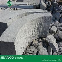 G341 China Grey Granite Bushhammered Kerb Stone Curb Roadstone Sidestone, Light Grey Granite, Kerbing Granite Stone, Landscaping Stone, Natural Kerbing Stone