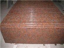 G562 Maple Red Granite Step, Red Granite Stone Stairs&Step China Red G562 Granite Staircase Polished Bullnose Maples Red Granite Stair Treads Chinese Maple Red Stair&Steps with Bullnose