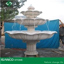 Garden White Marble Water Features, Exterior Landscaping Stones Rolling Sphere Fountains, Outdoor Sculptured Fountain