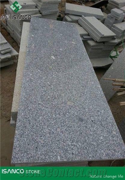 Polished Grey Sesame Granite Slabs Shandong Grey Granite Floor