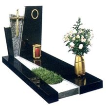 Pure Black European Tombstone,Russian Monuments,American Grave Stone,Tombstone with Carving Letters,Rectangular Tombstone and Monuments,American Memorials,Angel Tombstone Flower Vase,Cross Gravestone