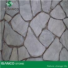 Purple Sandstone Crazy Flagstone on Mesh,Irregular Shape Pavers, Mesh Stone Paving, Stone Net Paste, Random Flagstone